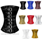 Heavy Duty Full Steel Boned Waist Training PVC Halfbust Burlesque Shaper Corset