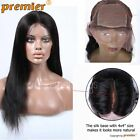 Silk Top Human Hair Lace Front Wigs Black Silk Straight Lace Wigs 4*4 Silke Base