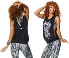 Zumba Rep My Style Loose Bubble Tank - Back to Black Z1T01044