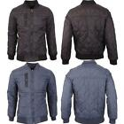 Mens Zip Up Long Sleeve Quilted Padded Warm Winter Bomber Jackets Sizes S - 2XL