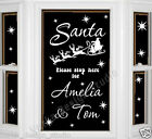 SANTA PLEASE STOP HERE STICKER CHRISTMAS WINDOW STICKER XMAS DECORATION  NS51