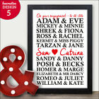 PERSONALISED Engagement Gifts Famous Couples Engagement Present Keepsake Mr Mrs