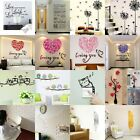 3D Removable Art Vinyl Quote DIY Wall Sticker Decal Mural Home Room Decor DIY