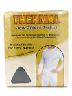 Mens Thermal Underwear Long Sleeve Vest / T-shirt Base Layer White, Grey
