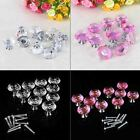 30mm 1/5 PCS Crystal Glass Door Knobs Drawer Cabinet Furniture Kitchen Handle