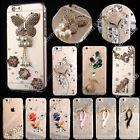 Bling Crystals Diamonds TPU Soft Transparent Back Case Cover For Samsung #2