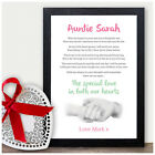 MY AUNTIE Personalised Poem Keepsake Word Art Christmas Birthday Gifts Aunty