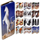 For Samsung Galaxy Note 7 5 4 Edge - Horse Print Flip Wallet Phone Case Cover