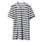 adidas Sport Essential Mens Stripe Polo Shirt Grey/Navy Blue