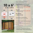 NEW 6x5 8x6 10x6 10x8 10x12 FT WOODGRAIN WOOD EFFECT METAL GARDEN STEEL SHED