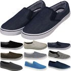 New Mens Casual Gusset Canvas Pimpsoles Fashion Pump Slip On Trainers Size Uk