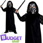 Harry Potter Death Eater Boys Fancy Dress Book Day Kids Childrens Costume Outfit