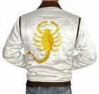 New Men Drive Embroidered Scorpion Gosling Satin Jacket XMAS Gift