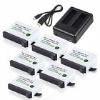 Battery for GoPro HD HERO4 Black & Silver / 2 Pcs AHDBT-401 + Dual Charger