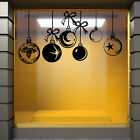 CHRISTMAS WINDOW DECORATION  XMAS Wall Stickers BAUBLES REMOVABLE STICKERS  N88