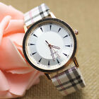 Fashion Casual Analog Women Leather Band Stainless Steel Quartz Wrist Watches