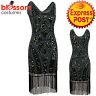 K230 Green 1920s Flapper Dress Great Gatsby Charleston 20s Abbey Sequins Costume
