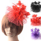 women handmade fascinator hair clips feather flower lace party wedding xmas gift