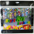 80th Birthday Book  Keepsake Signature Personalised Gift 30 Pages Party Supplies