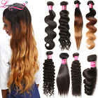 7A Virgin Indian Human Hair Extensions 100g Indian Deep Curly Ombre Hair Bundle