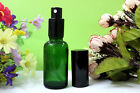30ML Green Glass Atomizer Spray Pump Lotion Cap Empty Vial For Essential