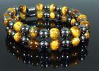 MAGNETIC HEMATITE TIGERS EYE BRACELET DOUBLE 8mm - ARTHRITIS PAIN