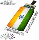 India Indian Vintage Country Flag - Universal Leather Pouch Phone Case Cover