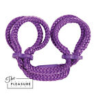 Japanese Silk Bondage Rope Ankle Cuffs PURPLE BLACK RED