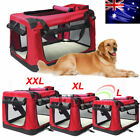 Portable Foldable Pet Soft Dog Cat Carrier Crate Travel Cage Kennel Large XL XXL