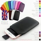 Quality Leather Slim Pull Tab Flip Pouch Sleeve Phone Case Cover for Apple