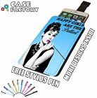 Audrey Hepburn Happy Girls Prettiest BLUE - Universal Leather Phone Case Cover