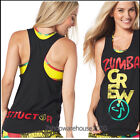 ZUMBA INSTRUCTOR Crew Loose Tank,RacerBack,Top DANCE!~fr.Convention RARE! S M L