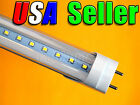"Lot of 10 - 110V AC T8 48"" 18W Pure White LED Fluorescent Replacement Tube Light"