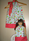 Doll and me Christmas dresses doll dress pillowcase dress handmade 100% cotton