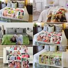Personalised Soft Fleece Photo Printed Blanket Bed Throw Baby, Single, Double