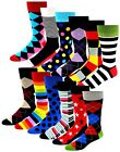 12 Pairs Men's Funky Fancy Design Colorful Premium Quality Dress socks 10-13