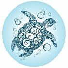 Sea Turtle Swimming Ocean Car Vinyl Sticker - Select Size