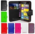 Book Wallet Flip Leather Stand Card Case Cover For Various Nokia Lumia Phones