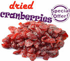 200g - 500g DRIED CRANBERRIES (7oz - 17.6oz) NATURAL FRESH FREE SHIPPING 1LB