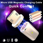 Micro USB Magnetic Charging Cable Adapter Data Charger For Samsung Android Phone