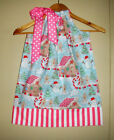 Christmas dress  Blue pink pillowcase Dress handmade girl 100%cotton handmade