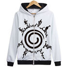 Narutos Cartoon Anime Jacket Sweater Clothing Anime Cardigan Zipper Hooded Coat