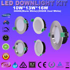6/36X 10W/ 13W/ 16W DIMMABLE LED DOWNLIGHT KIT 70/90MM CUTS WARM/ COOL WHITE