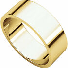 10K Yell. Gold, Flat Wedding Band 7MM sz 4-15
