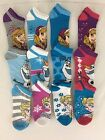 12 Pair Disney Frozen Socks Low Cut Ankle Elsa Anna Olaf Sizes SM or ML Sparkly
