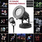 12 Pattern Moving LED Laser Star Snowflake XMAS Lights Outdoor Home Garden Decor