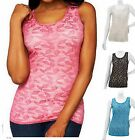 Kathleen Kirkwood~Undercover Agent Leafy Lace Tank~A230091