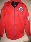 NBA Los Angeles Clippers Full Zip Dri Fit Hoody Hooded Sweatshirt Jacket Mens on eBay