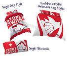 Sydney Swans 2017 AFL Quilt Cover Doona Single Double Queen King Pillowcase