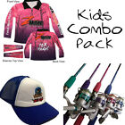 KIDS Fishing Pack - Zman PINK Tournament KIDS Shirt + Tackle Rats Combo + Hat
